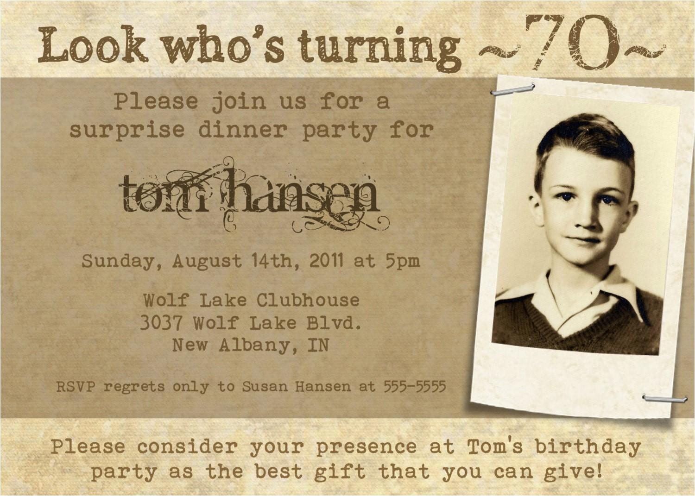 milestone birthday invitation for adults