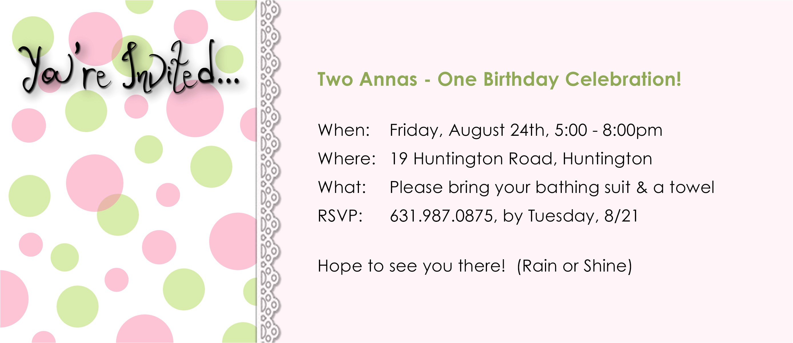 party invitation email wording