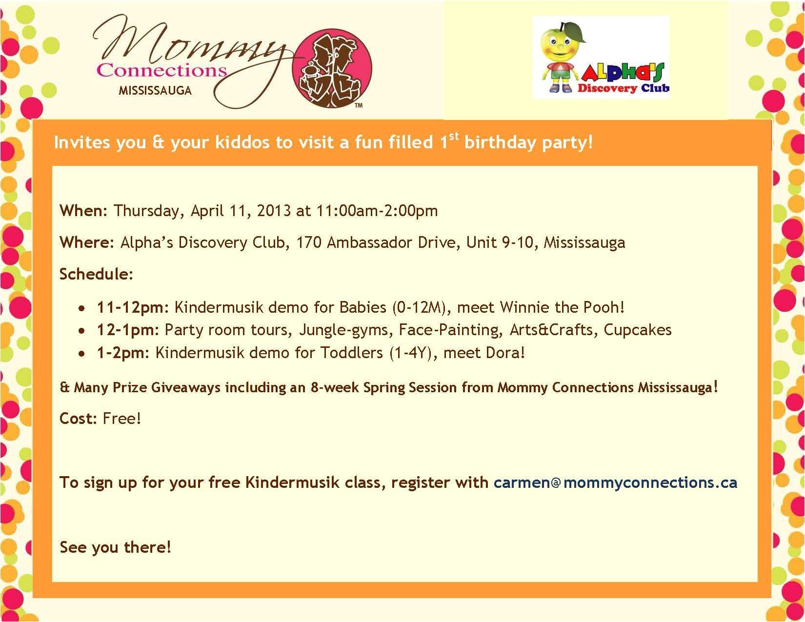 birthday invitation email wording