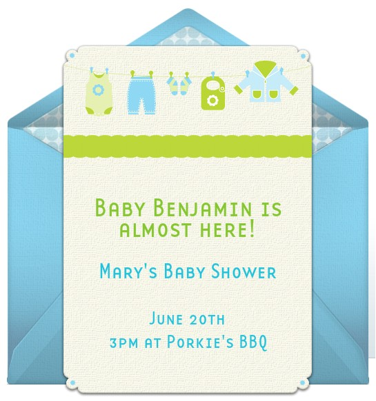 baby shower email invitations