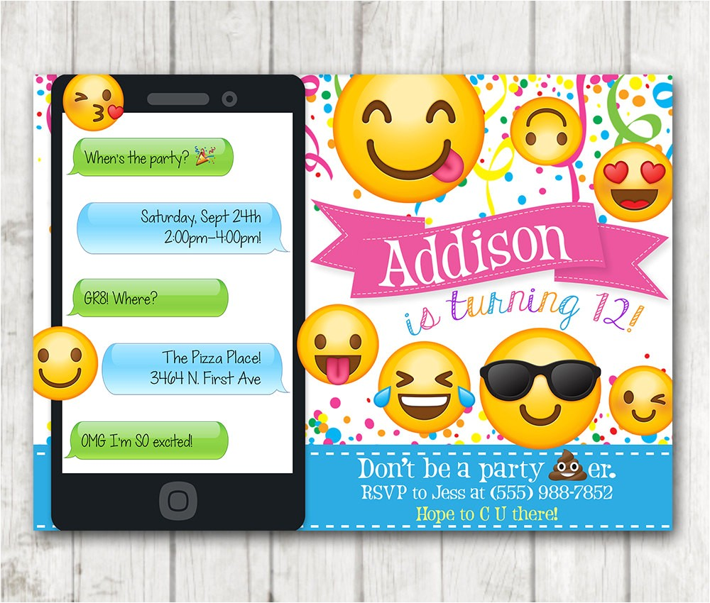 printable emoji birthday party