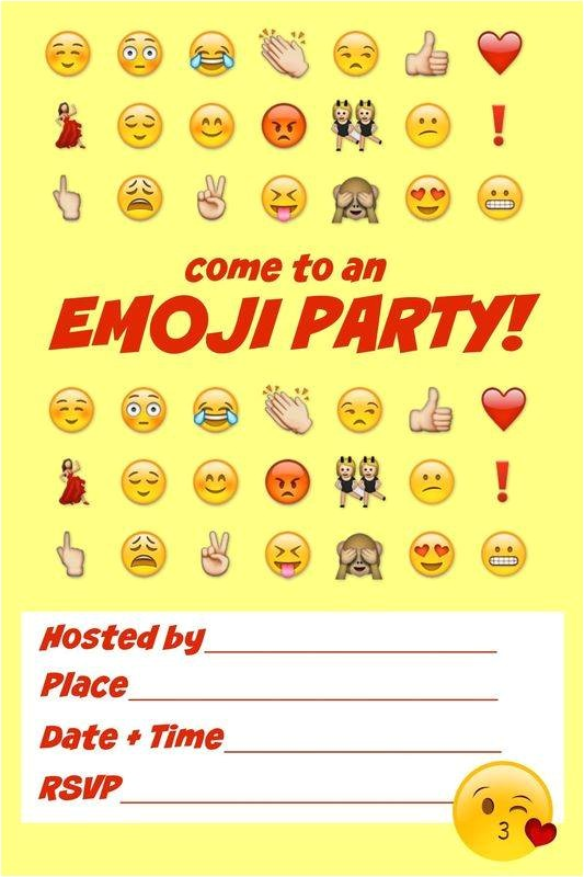ultimate emoji party ideas snacks decor activities invitations