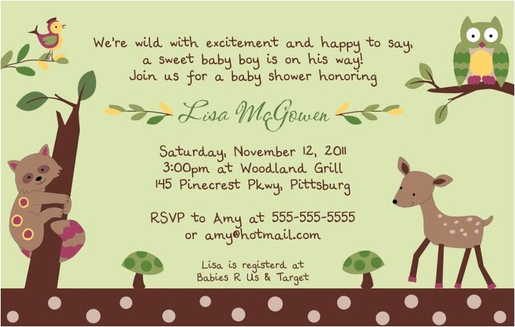 forest baby showers