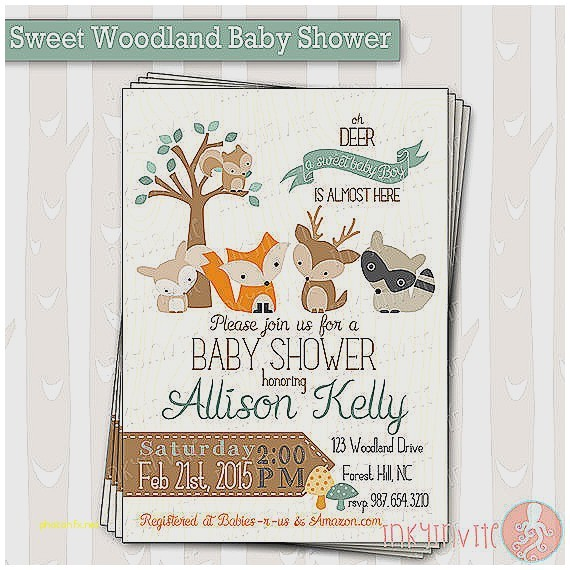 enchanted forest baby shower invitations
