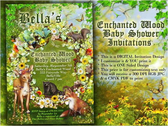 enchanted forest shower baby shower