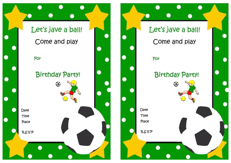 end of season football invitation printable
