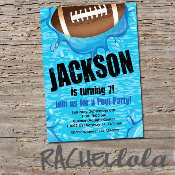 football pool party birthday invitation printable