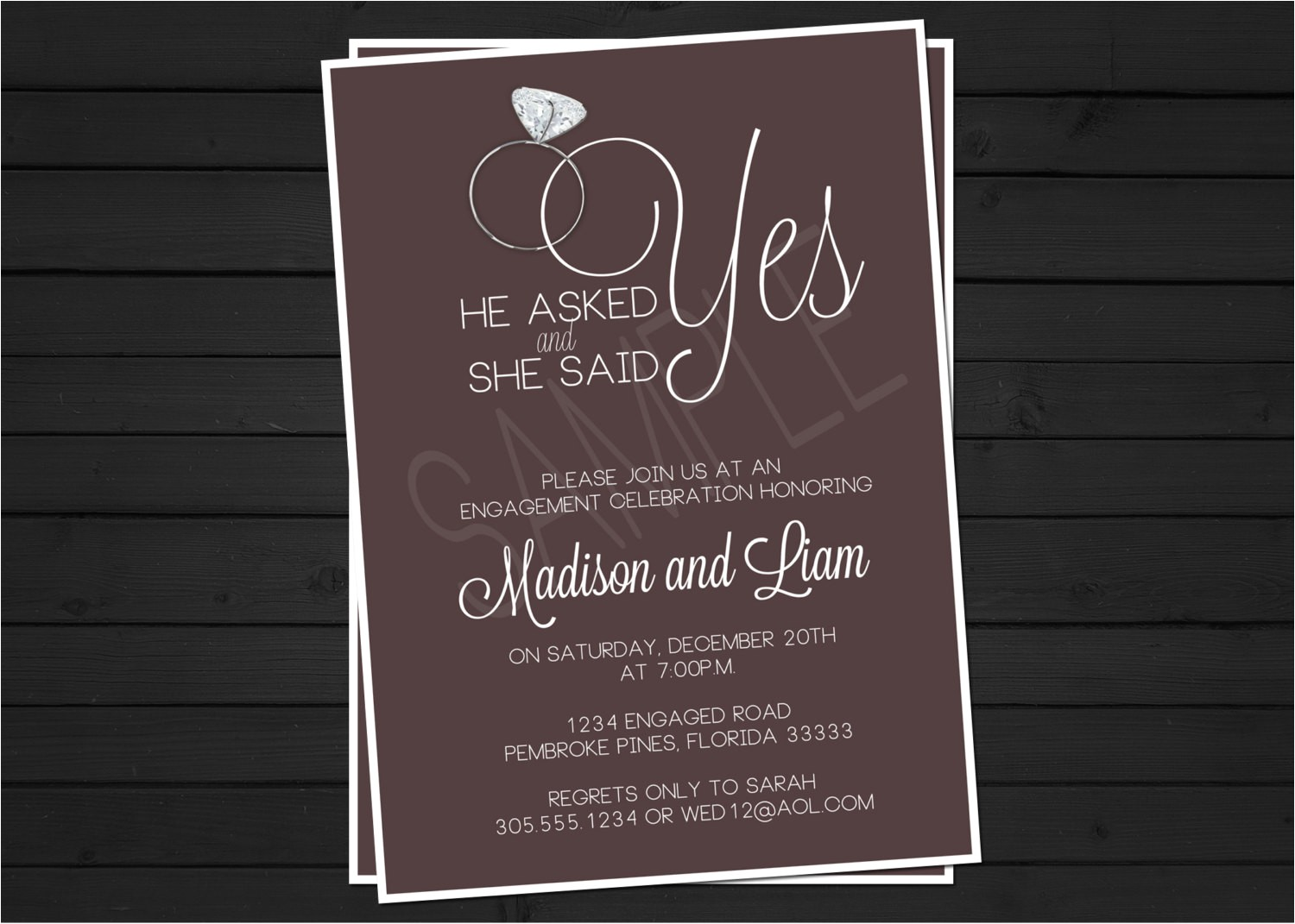 engagement party invitation digital file