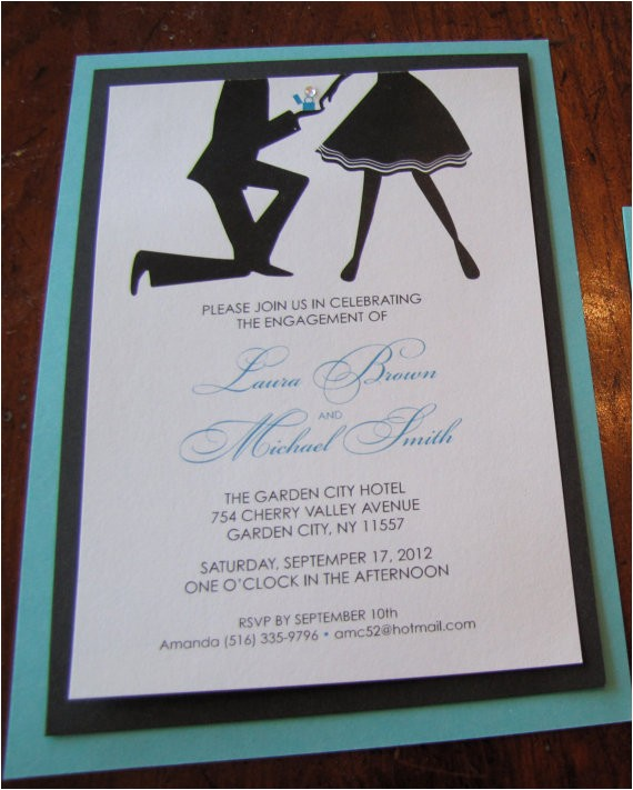 breakfast at tiffanys engagement party