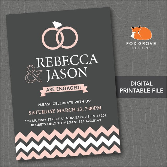 engagement party invitation contemporary