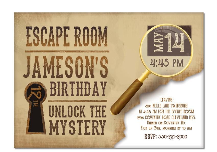 escape room invite boys or girls