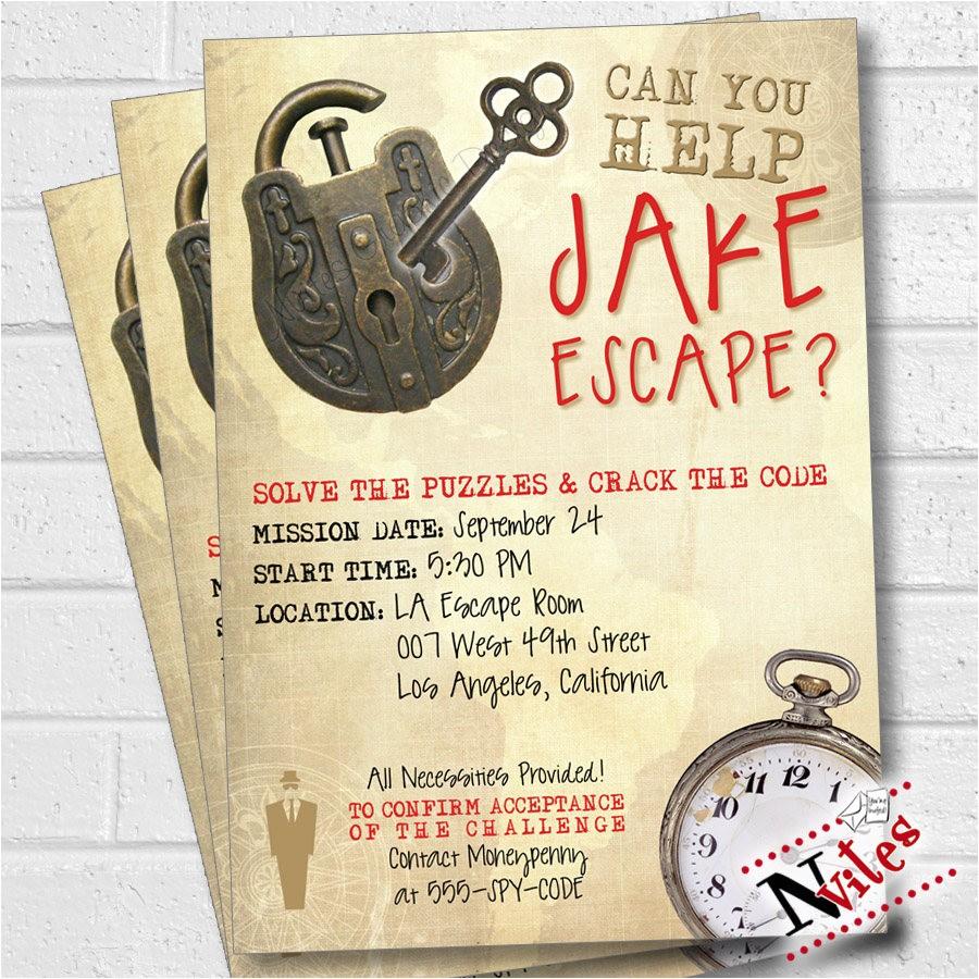 escape room party invitation escape room