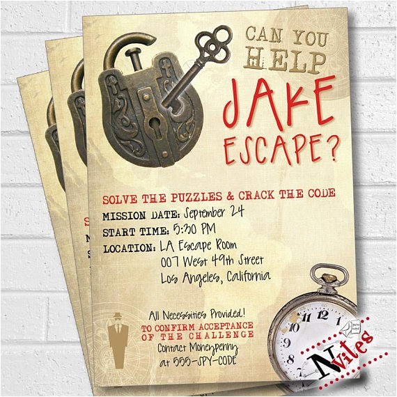 escape room party invitation escape room