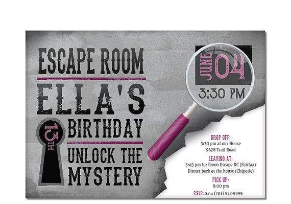 escape room party