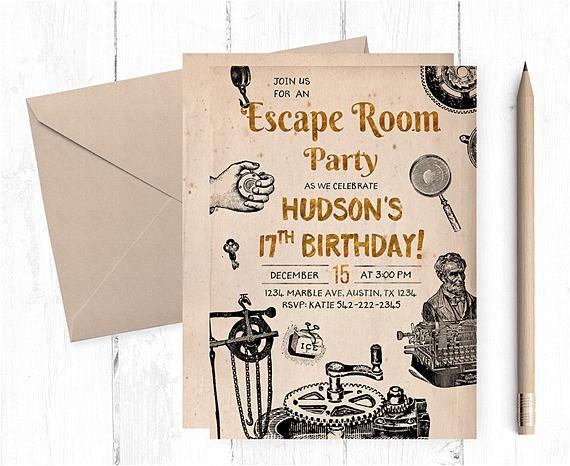 escape room invitations escape room