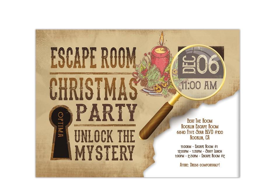 holiday escape room invite printable