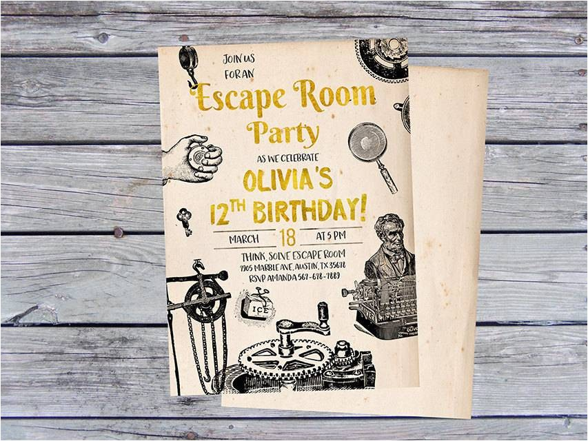 throw an exciting escape room party
