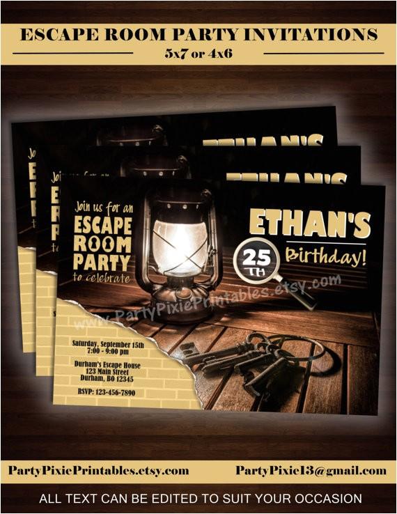 escape room party invitations 5x74x6