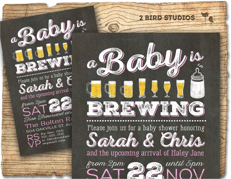 coed baby shower invitation beer baby