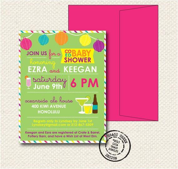 coed baby shower invitation 15 custom