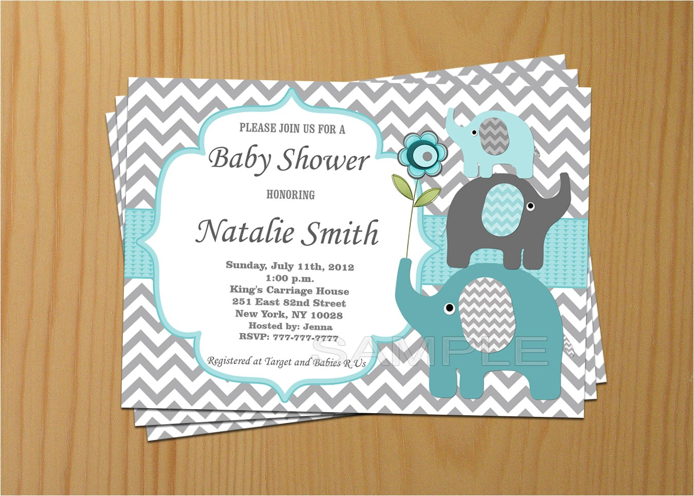 etsy baby girl shower invitations