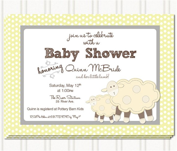 lil lamb baby shower invites