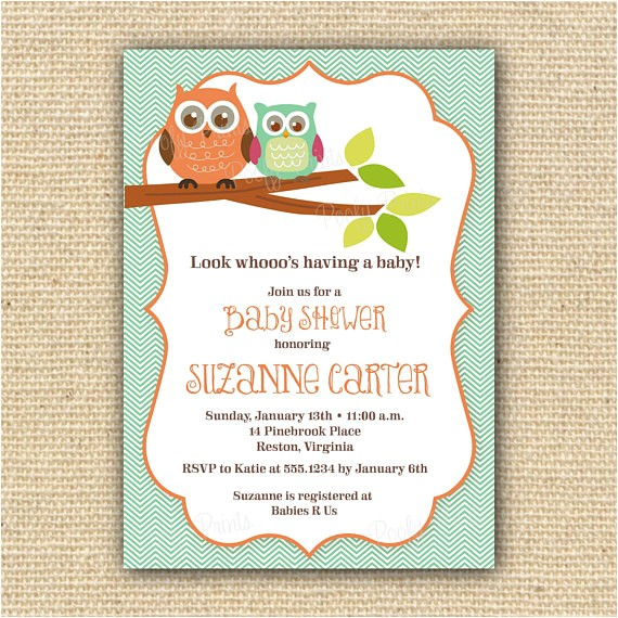 owl baby shower invitations diy