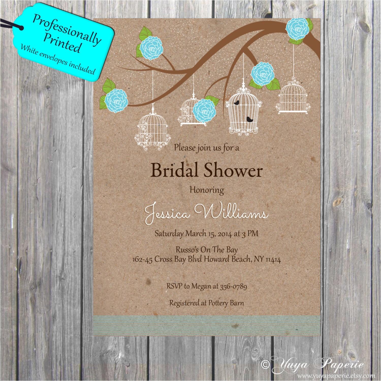 rustic bridal shower invitation adult