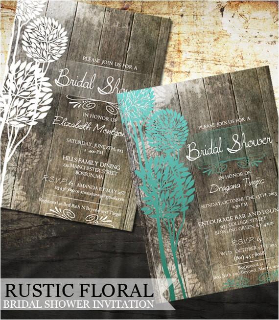rustic bridal shower invitation by oddlotemporium on etsy