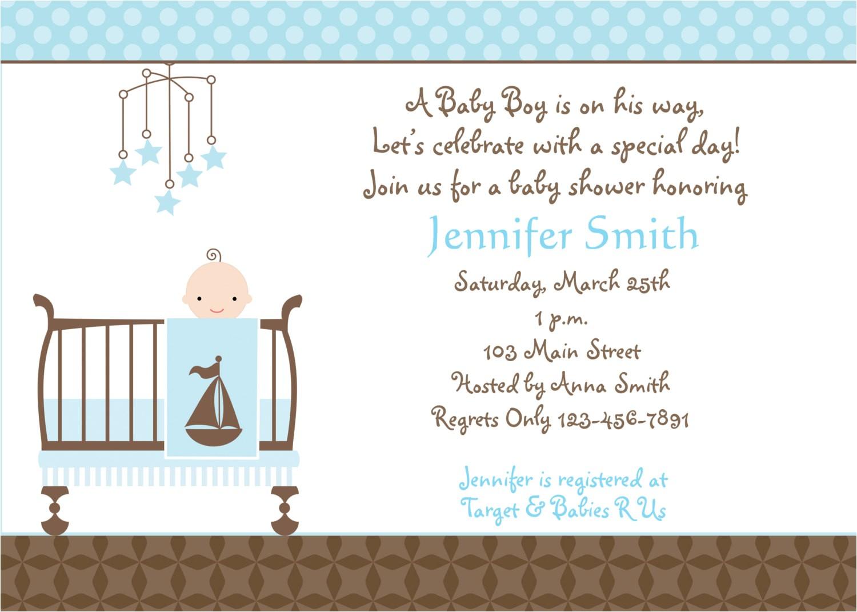 baby boy shower invitation wording
