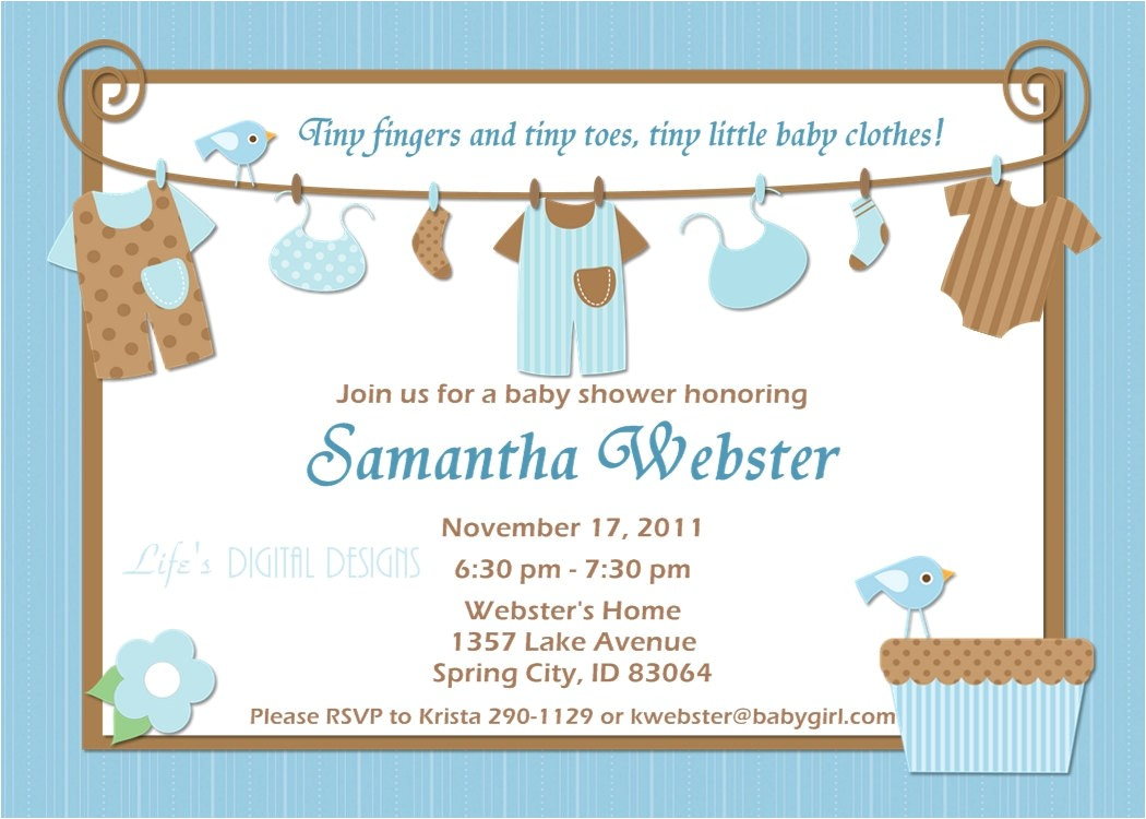 ideas of baby shower invitations for boys b