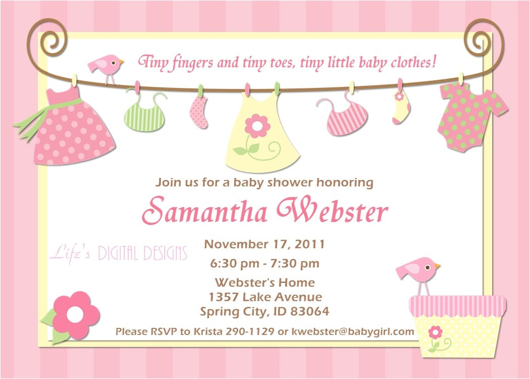 baby shower invitations for girls