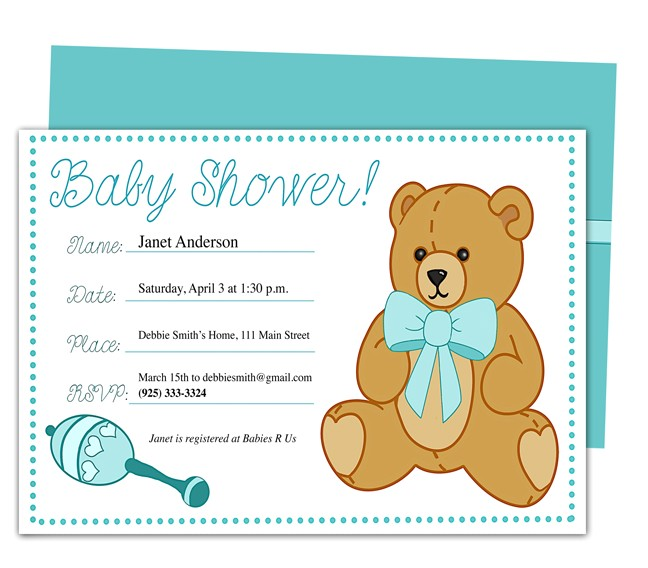 baby shower sample invitations