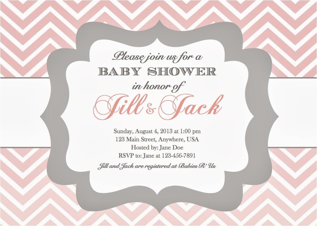 girl baby shower invitations