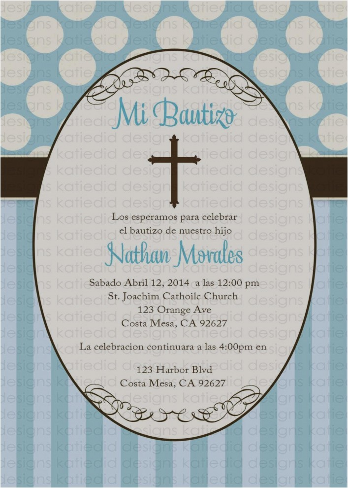 invitation for baptism in spanish