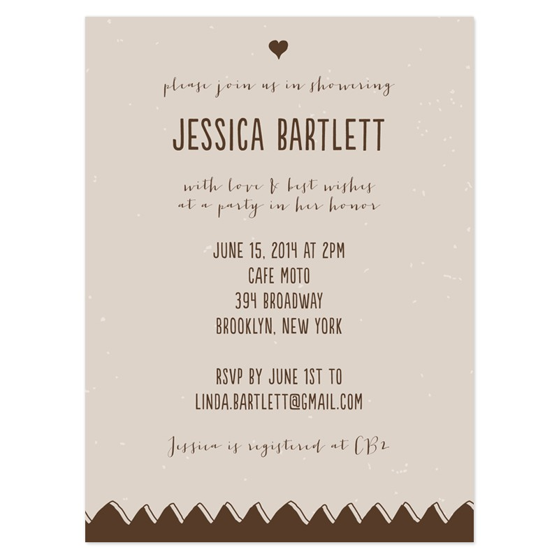 sample wedding shower invitations