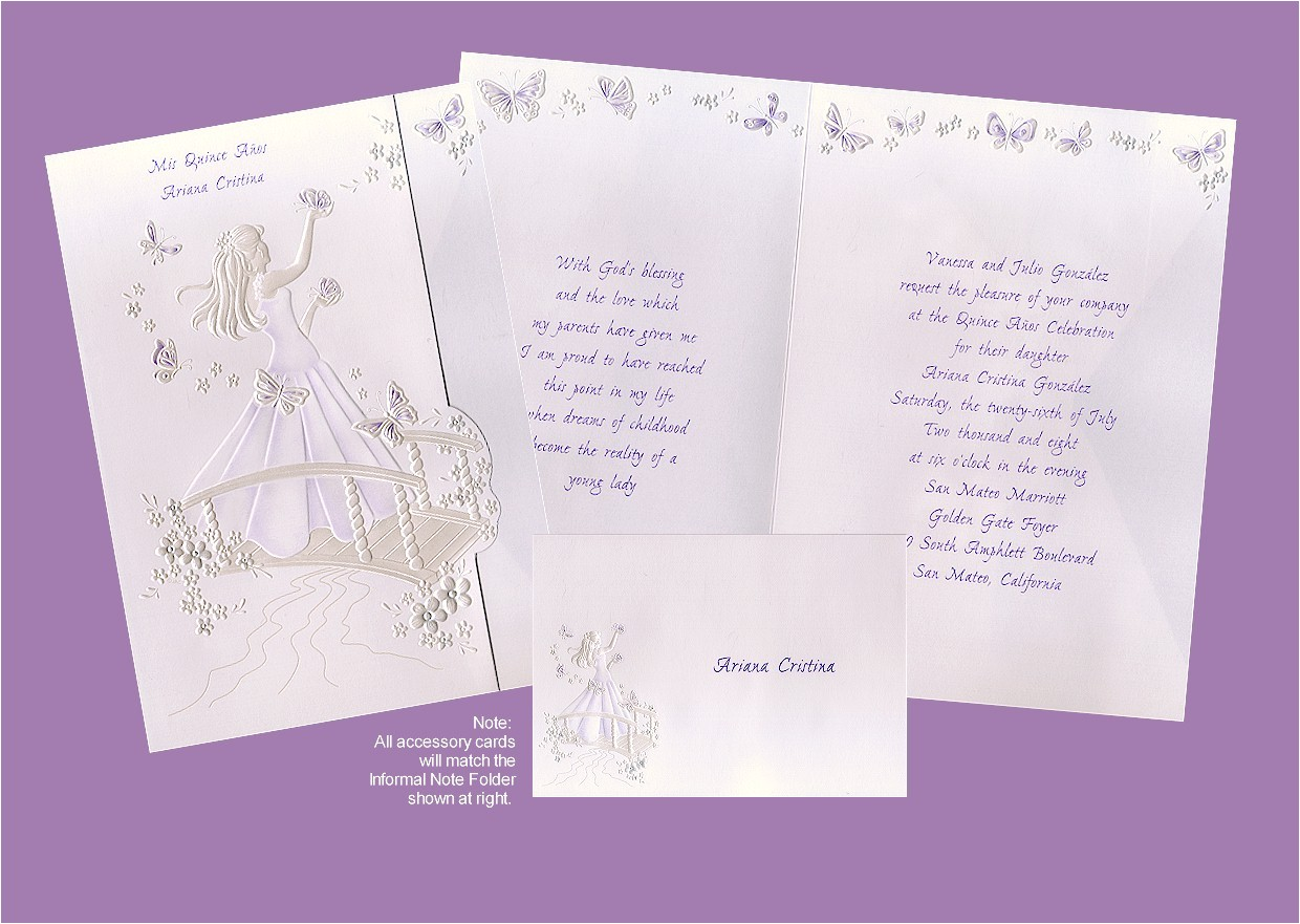 sample quinceanera invitation wording