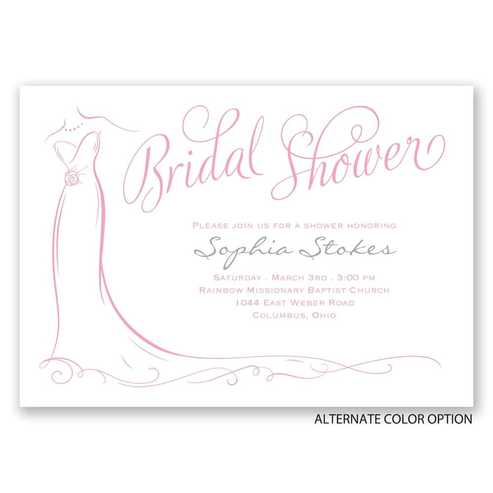 elegant bride bridal shower invitation