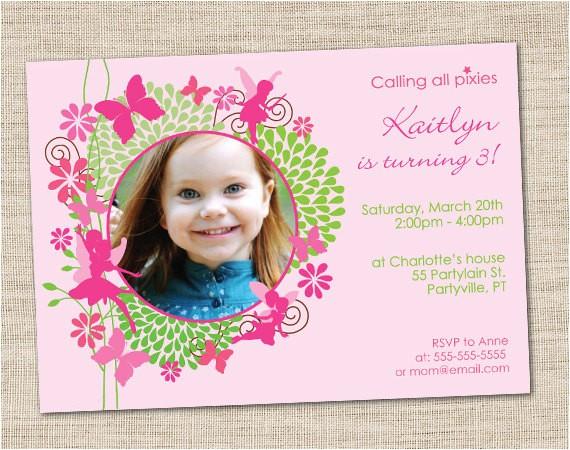 fairy birthday invitation diy printable