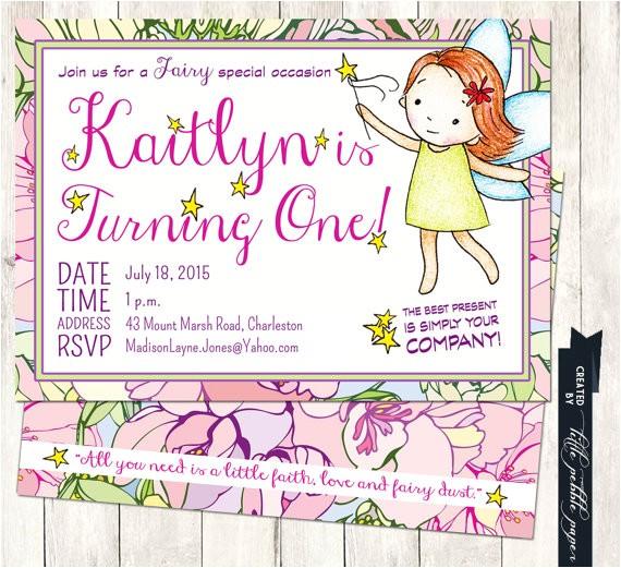 fairy birthday invitation fairy themed
