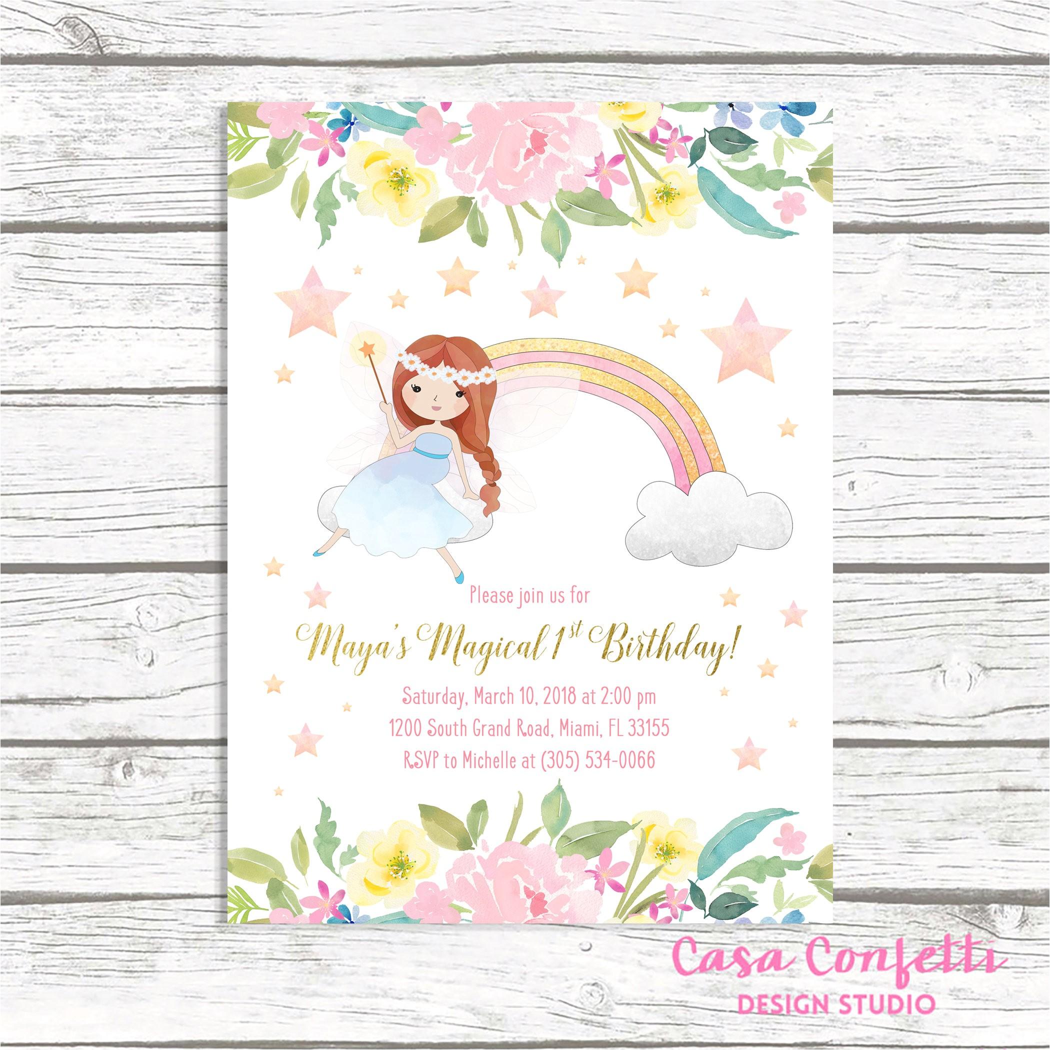 fairy invitation fairy birthday