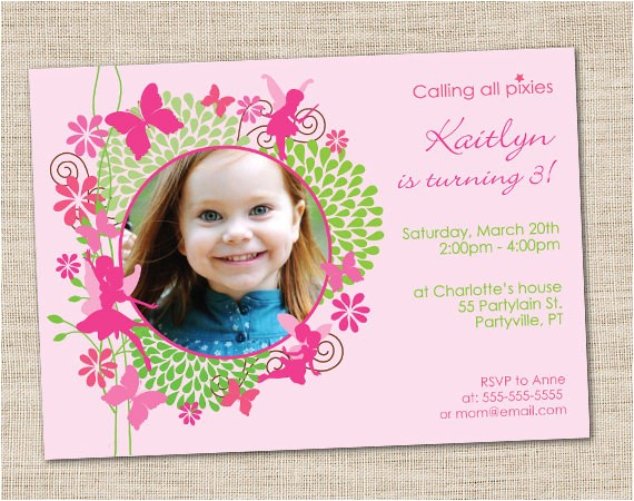 fairy birthday invitation diy printable