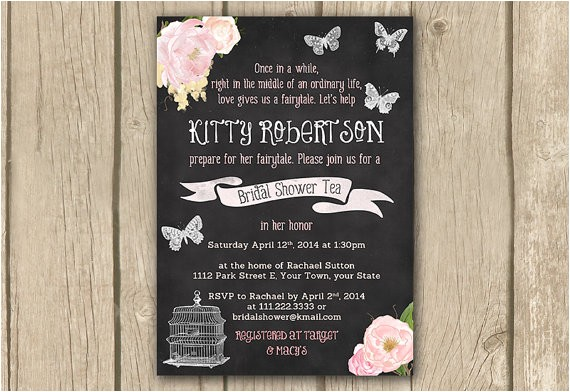 bridal shower invitation fairy tale