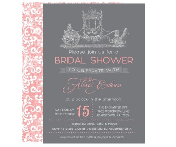 fairy tale bridal shower invitations