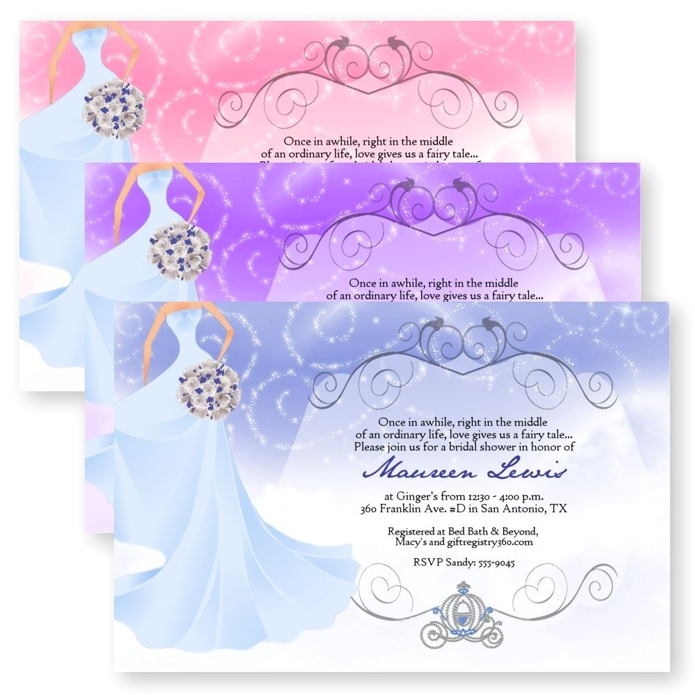 Fairy Tale Bridal Shower Invitations Fairytale Bridal Shower Bouquet Sparkly Sparkle Wedding