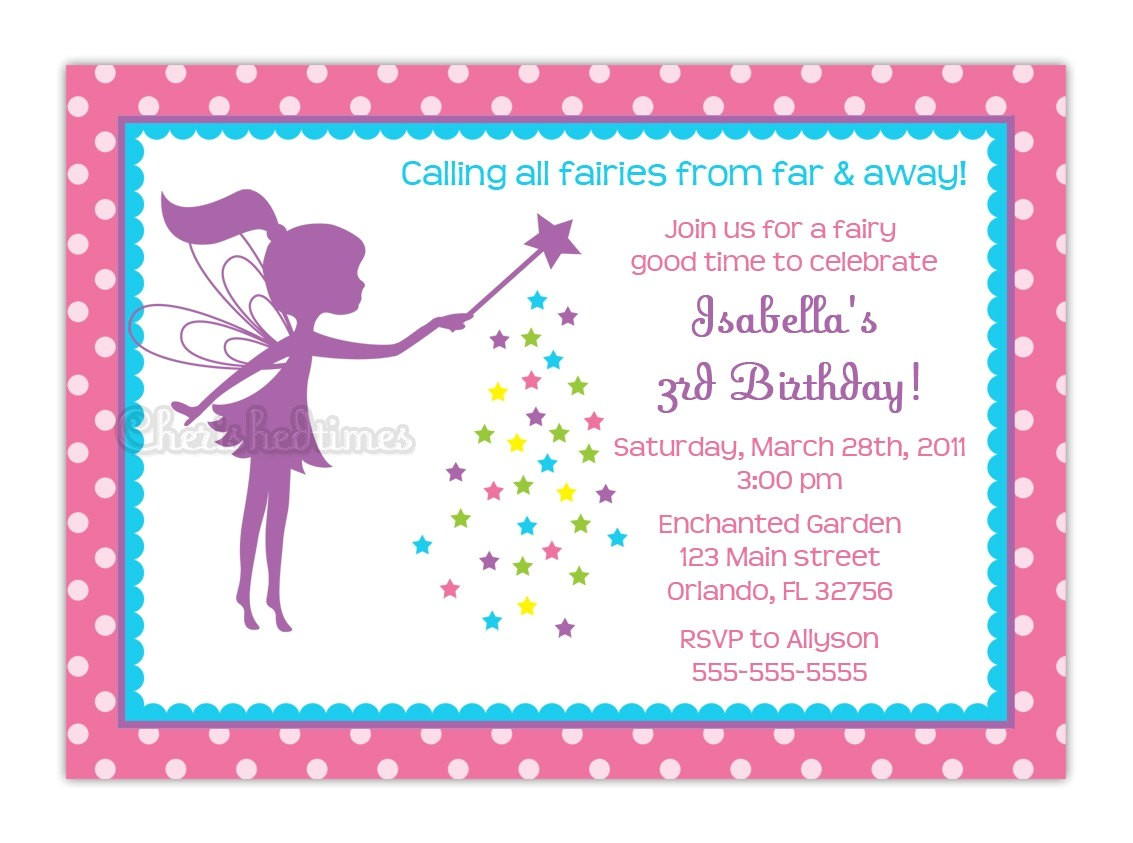 little fairy silhouette birthday party