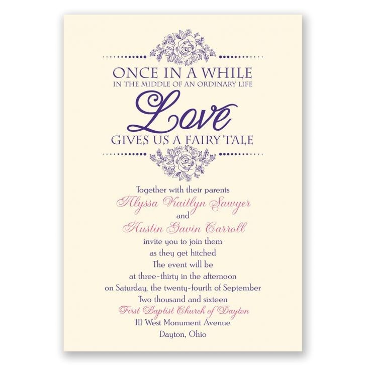 cinderella fairy tale wedding invitations