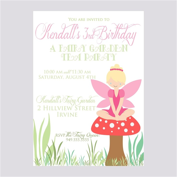 fairy party invitations