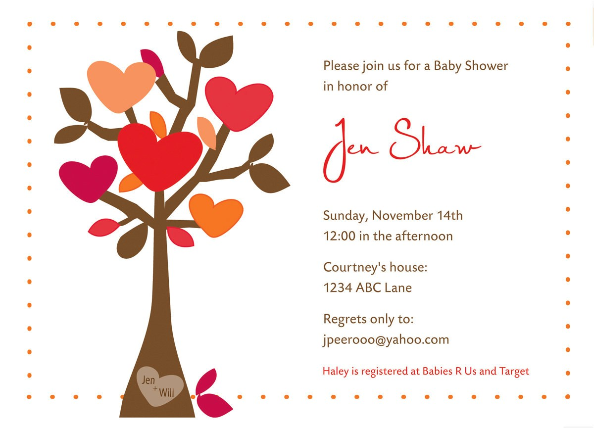 fall bridal shower invites template