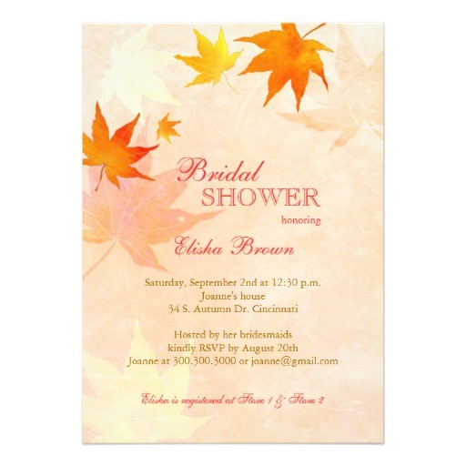 fall bridal shower invitations free